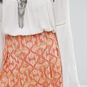 Free People Lovers Lane Printed Mini Skirt